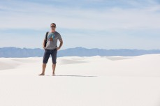 Anthony at White Sands National Monument